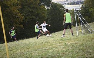« La Belle Equipe », lors du tournoi de foot en pente à Cenon, disputé le week-end du 5 et 6 septembre 2015.