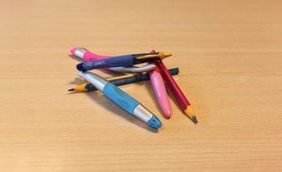 Les nouveaux crayons ergonomiques qui vont sortir pour la rentrée 2014.
