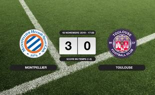 Ligue 1, 13ème journée: Montpellier s'impose à domicile 3-0 contre le TFC