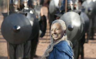 Photomontage SIPA/20 Minutes de Christine Lagarde, directrice générale du FMI, sur une photo de la série