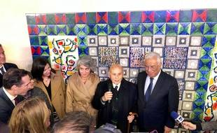 La maire de Paris, Anne Hidalgo et le Premier Ministre du Portugal, António Costa ont inauguré une oeuvre dans le nouvel accès de la station Champs-Elysées– Clemenceau