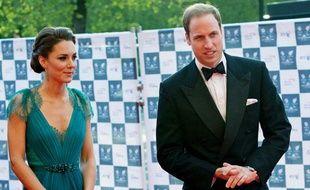 Kate et William, au Royal Albert Hall de London (Royaume-Uni), le 11 mai 2012