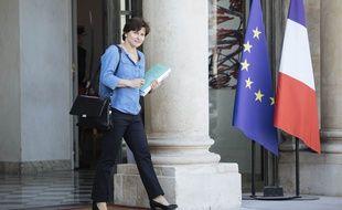 Roxana Maracineanu, ministre des Sports, sur le perron de l'Elysée, le 24 septembre 2018.