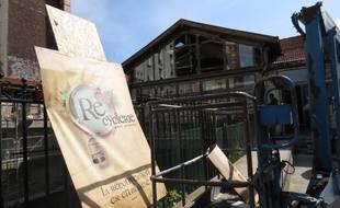 Paris, le 11 juin 2014, la recyclerie, une ancienne gare de la petite ceinture, reconvertie en espace de loisirs, de jardinage et de bricolage ouvre ses portes samedi 14 juin 2014.