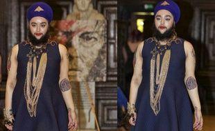 Harnaam Kaur est devenue la première femme à barbe à défiler lors d'une Fashion Week.