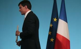 Manuel Valls, le 29 mars 2015 après l'annonce des premiers résultats des départementales.