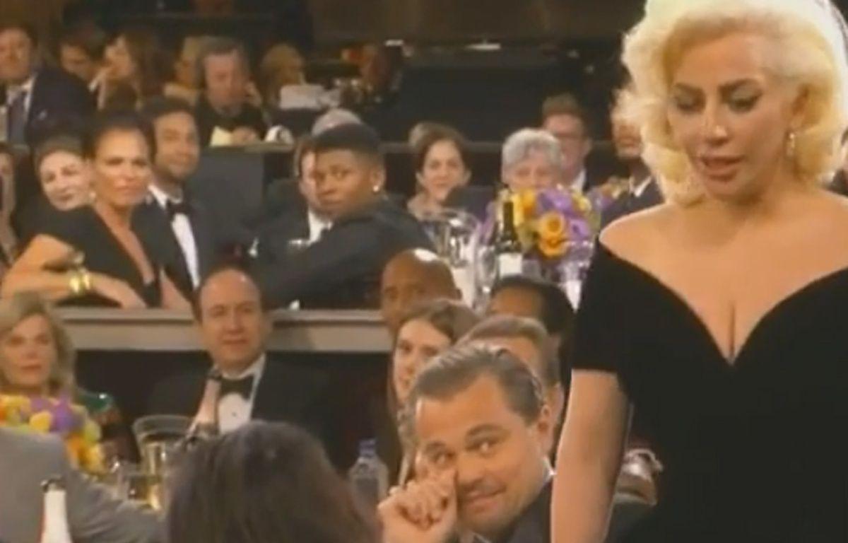 Lady Gaga aux Golden Globes 2016. – Capture d'écran / Vine