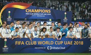 Le Real Madrid a remporté la dernière édition du championnat du monde des clubs, contre Al Ain, le 22 décembre 2018 à Abu Dhabi.