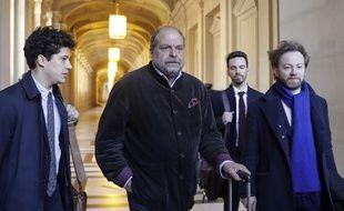 Paris, le 25 mars. Archibald Celeyron (à gauche), Eric Dupond-Moretti (au centre) et Antoine Vey, les avocats d'Abdelkader Mérah, arrivent à la cour d'appel de Paris.