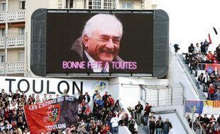 Une photo de Dominique Strauss-Kahn est apparue sur l'écran géant du stade de Toulon samedi après-midi.