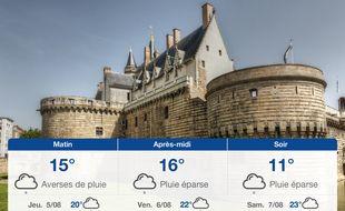 Météo Nantes: Prévisions du mercredi 4 août 2021