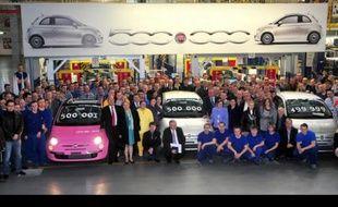 La Fiat 500 fête sa 500 000ème voiture