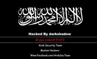 Capture d'écran du site TravelWest, hacké le 1er janvier 2015.