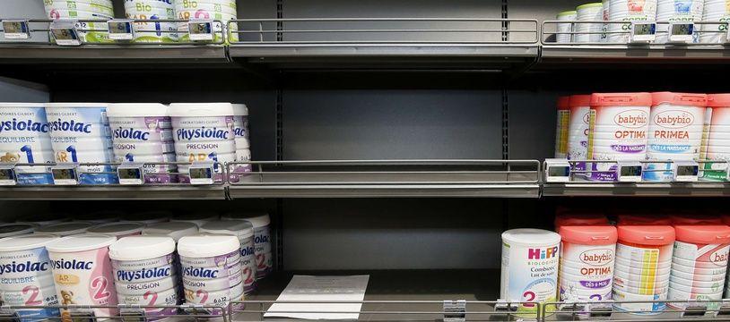 Rayon de laits infantiles après le retrait de produits Lactalis. 11 décembre 2017.
