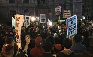 Manifestation du 24 novembre à Philadelphie, après l'annonce de non-inculpation du policier qui a tiré sur Michael Brown