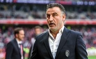 Christophe Galtier, l'entraîneur du LOSC / AFP PHOTO / Philippe HUGUEN