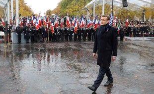 Emmanuel Macron lors des cérémonies de commémoration du centaine de l'armistice de 1918. (archives)