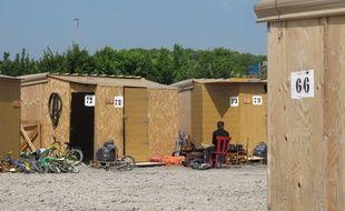 Le camp de la Linière était composé de cabanons en bois.
