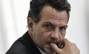 Paris, le 8 juillet 2020. Jérôme Kerviel lors de son audition devant la commission de l'Assemblée nationale.