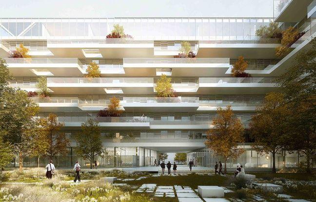 Image de synthèse de l'immeuble de bureaux qui accueillera le groupe Fayat