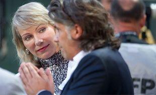 Margarita Louis-Dreyfus avec Vincent Labrune, le 2 septembre 2013.