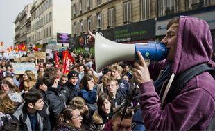 Lors de la manifestation le 31 mars, à Marseille.