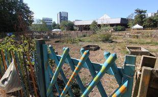 Des jardins familiaux côtoient une exploitation maraîchère professionnelle dans le quartier du Blosne à Rennes.