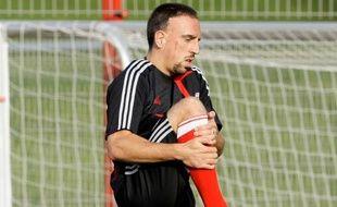Le footballeur français du Bayern Munich, Franck Ribéry, lors d'un entraînement le 29 septembre 2009 à Munich.