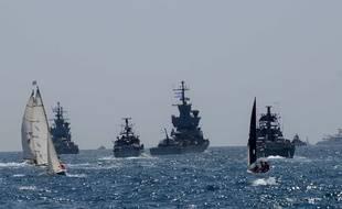 Des navires militaires israéliens, le 19 avril 2018.