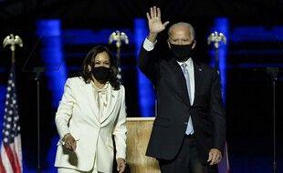 Kamala Harris et Joe Biden, après l'annonce de leur victoire