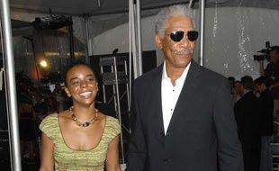 Morgan Freeman et sa petite-fille E'Dena Hines à l'avant-première de «The Dark Knight» en 2008 à New York.