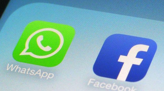Les apps WhatsApp et Facebook sur un smartphone. – P.SISON/AP/SIPA