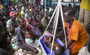 Un centre d'accueil et de soins pour les enfants à Panthau au Soudan du Sud, le 31 mai 2017.