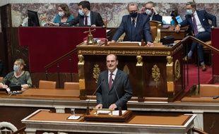 Jean Castex lors de son discours de programmation générale mercredi 15 juillet 2020.