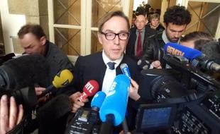 Maître Tricaud, l'un des avocats des familles des victimes, à l'issue de l'audience ce mardi devant la cour d'appel de Rennes.
