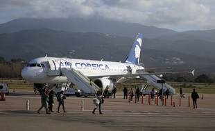 Photo d'illustration d'un avion d'Air Corsica, ici en décembre à Ajaccio.