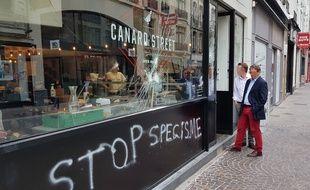 Le Canard Street, à Lille, vandalisé en juin 2018.