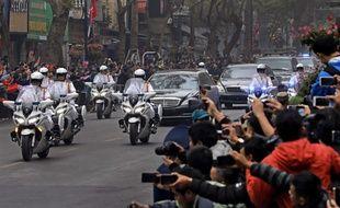 Kim Jong-un est arrivé à Hanoï, au Vietnam, le 26 février 2019, où il doit participer à un sommet de deux jours avec Donald Trump.