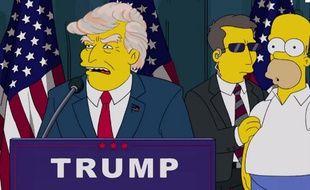 Donald Trump élu dans un épisode des Simpson