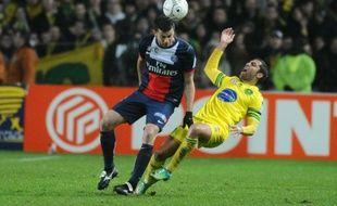 Le milieu de terrain du PSG Thiago Motta, le 4 février 2014, à Nantes.