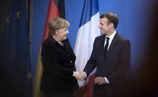 Emmanuel Macron et Angela Merkel, le 18 novembre 2018 à Berlin. /Credit:Stefan Boness/Ipon/SIPA