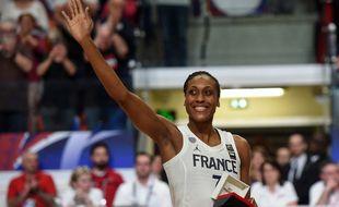 Sandrine Gruda, tête de pont de l'équipe de France de basket.