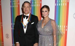 Tom Hanks et son épouse Rita Wilson, en décembre 2014.