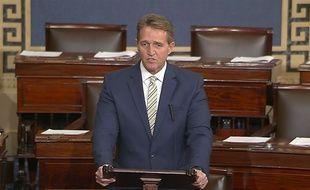 Le sénateur républicain américain Jeff Flake a comparé Donald Trump à Staline dans un discours au Sénat, le 17 janvier 2018.