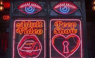 Un sex-shop (illustration).
