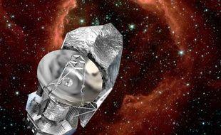 Vision d'artiste du téléscope Herschel, lancé dans l'espace le 14 mai 2009.