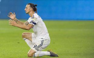 Zlatan Ibrahimovic lors de la demi-finale de conférence Ouest de la MLS entre le LA Galaxy et le LA FC.