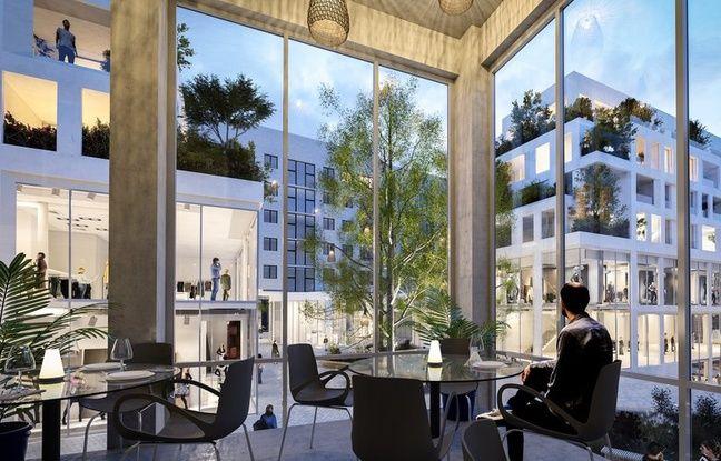 Projet de restaurant à l'angle du parking Graslin dans le cadre du projet Biloba Plaza.