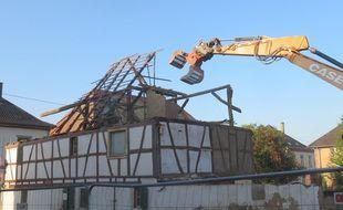 Destruction de la maison Greder à Geudertheim le 30 septembre 2020.