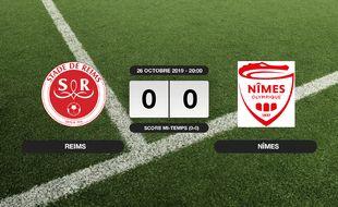 Ligue 1, 11ème journée: Match nul entre le Stade de Reims et Nîmes sur le score de 0-0